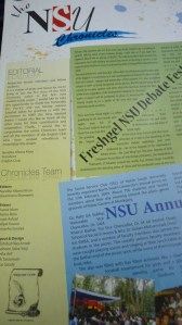 NSU Chronicles Cover